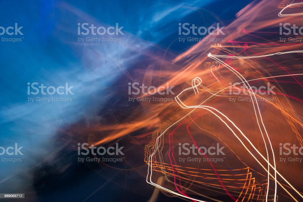 slow motion abstraction on the road stock photo