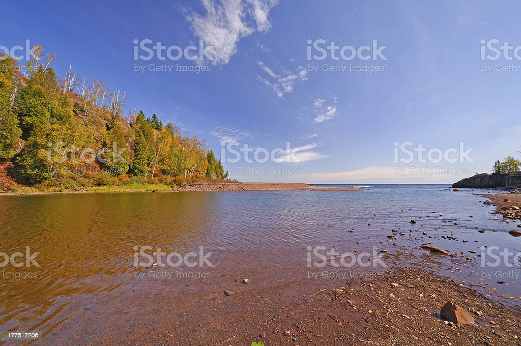 Slow Moving River on a Sunny Day royalty-free stock photo