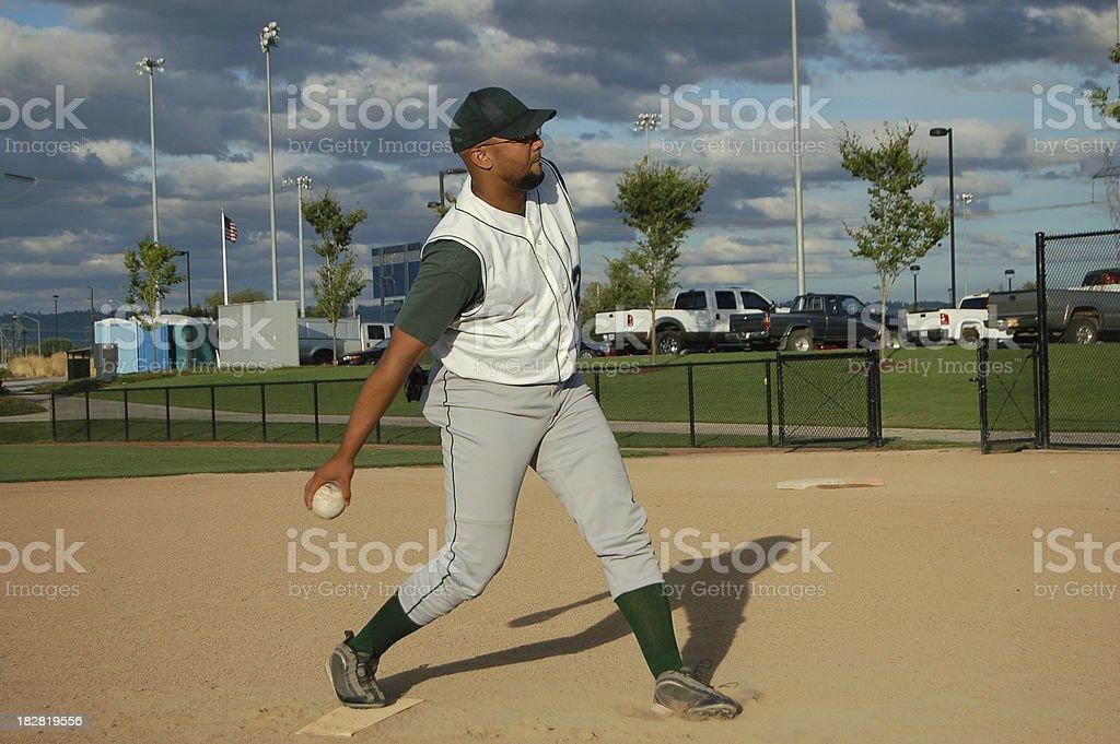 Slow Pitch Softball royalty-free stock photo