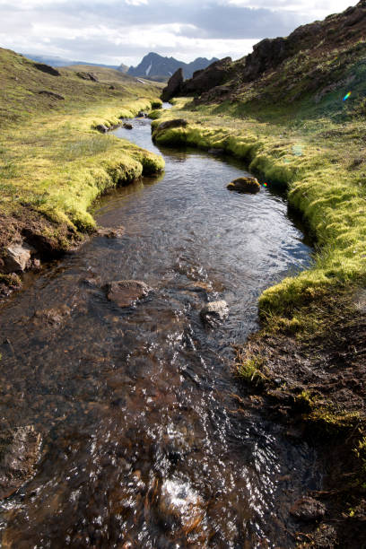 A slow river stock photo