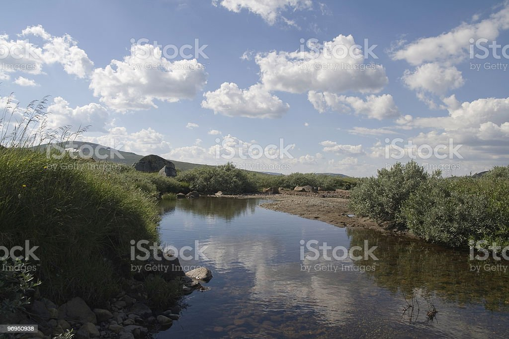 Slow river royalty-free stock photo