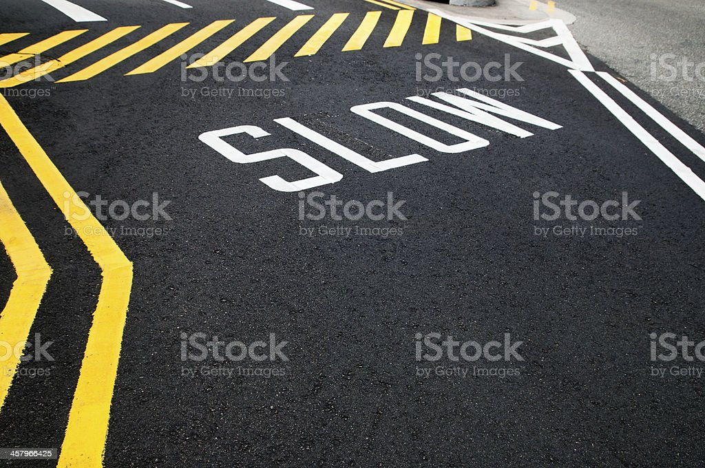 Slow Road royalty-free stock photo