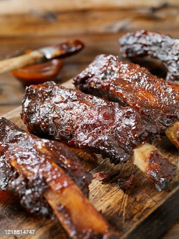 Slow Roasted Beef Ribs with BBQ Sauce
