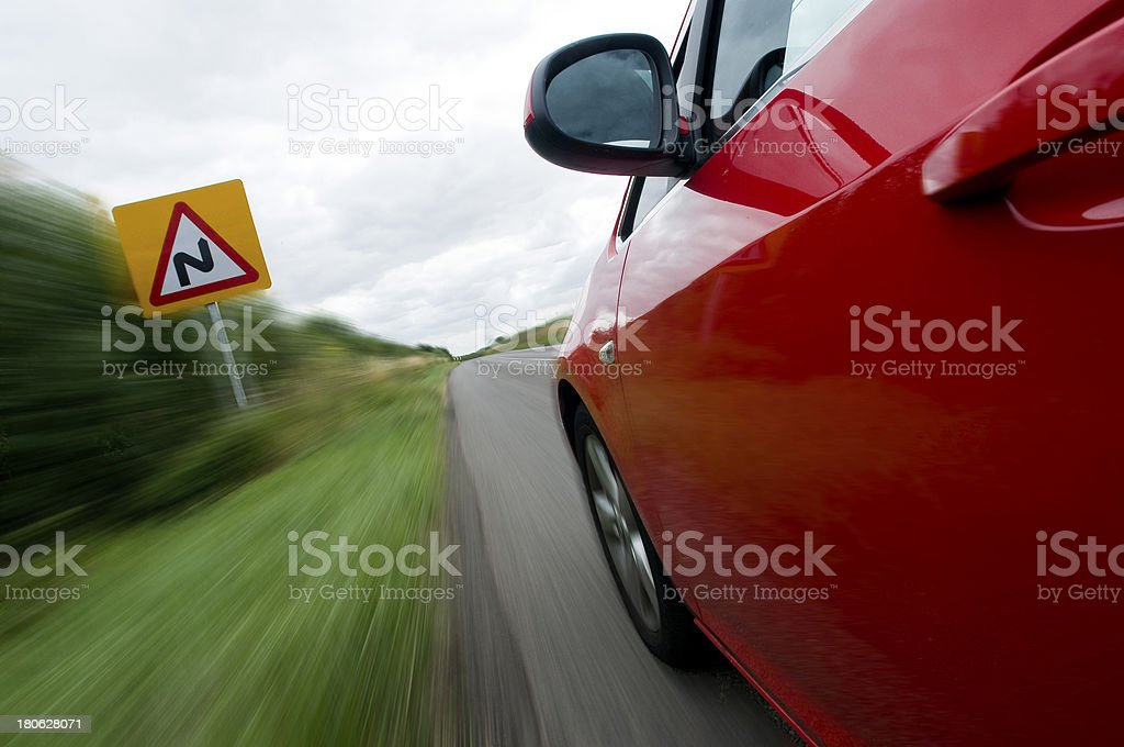 Slow, S bends stock photo