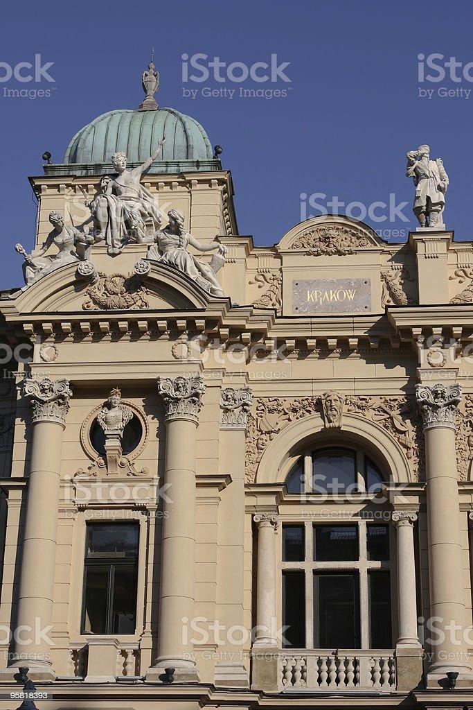 Slowacki theater in Cracow stock photo
