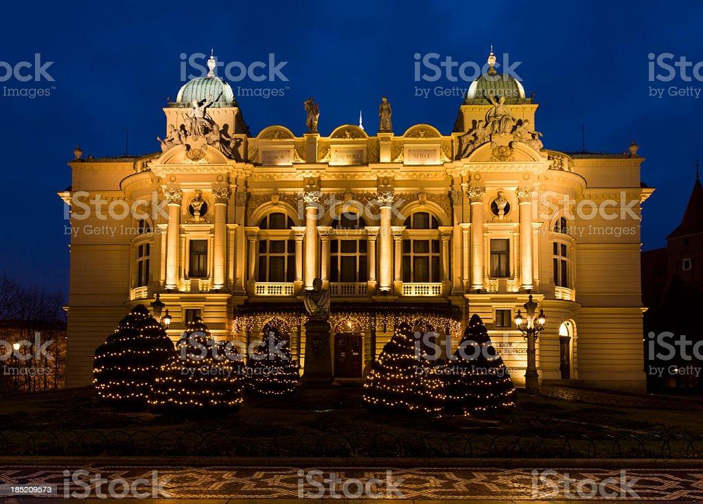 Slowacki Theatre in Krakow, Poland stock photo