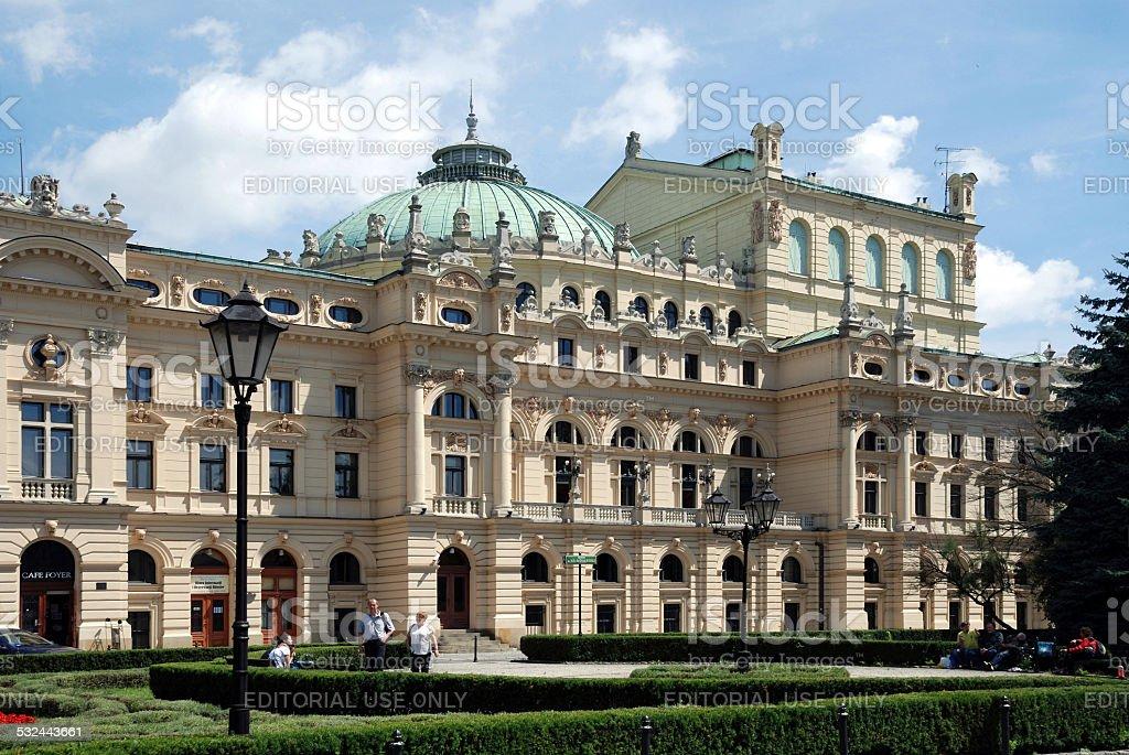 Slowacki Theatre of Krakow in Poland stock photo