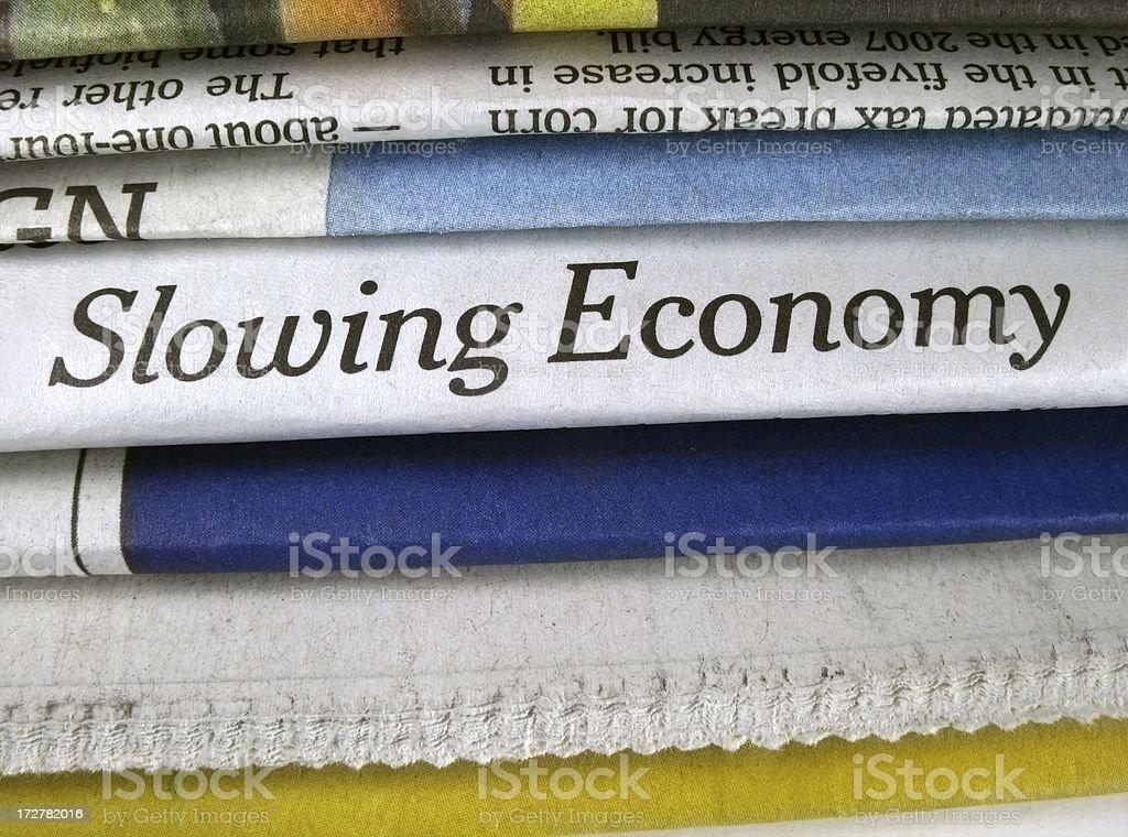 Slowing Economy stock photo