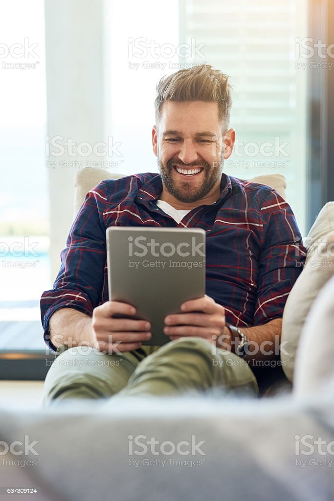 Slowing it down with some online movies stock photo