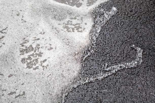 Sludge and Bubbles Floating on Water stock photo