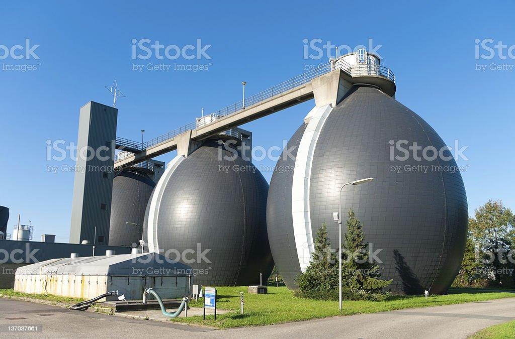sludge digestion tanks royalty-free stock photo