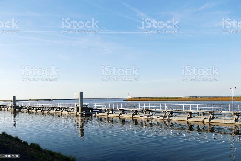 Sluice on Oostkade van Den Oever, Afsluitdijk the Netherland foto