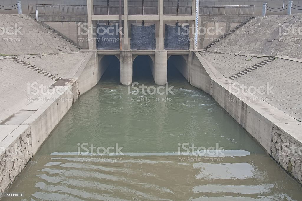 Sluice stock photo