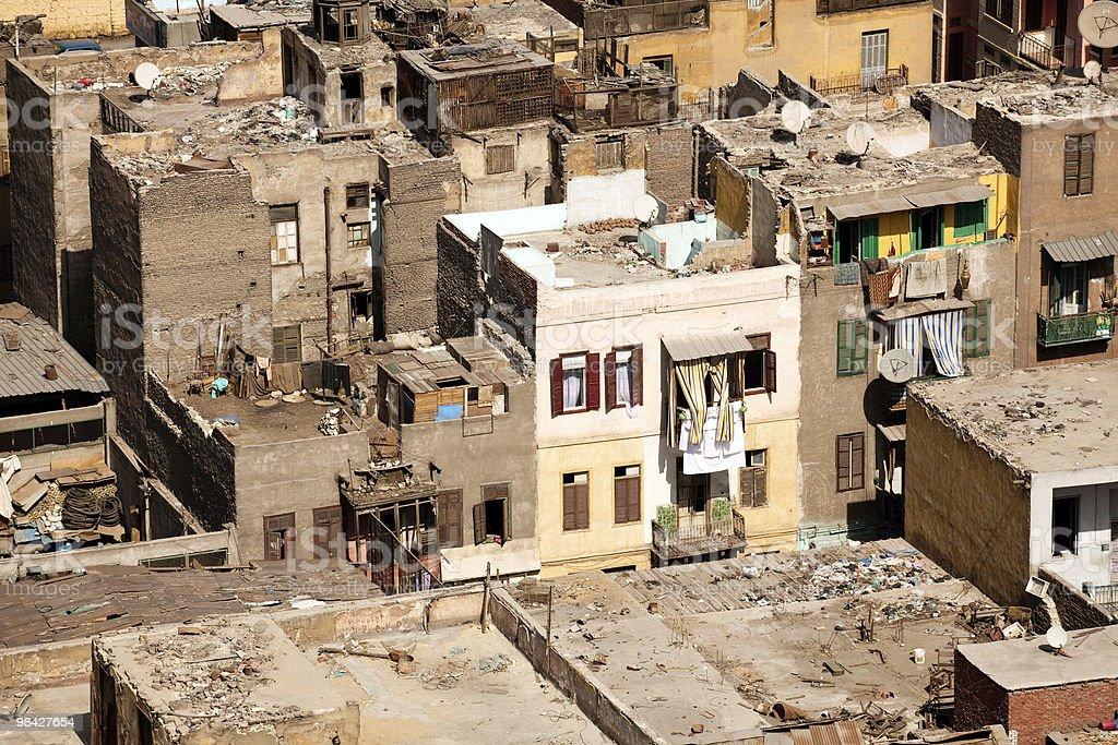 슬럼가 숙소 중 Cairo Egypt royalty-free 스톡 사진