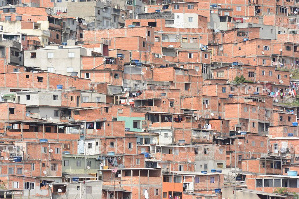 Slum of Brazil stock photo