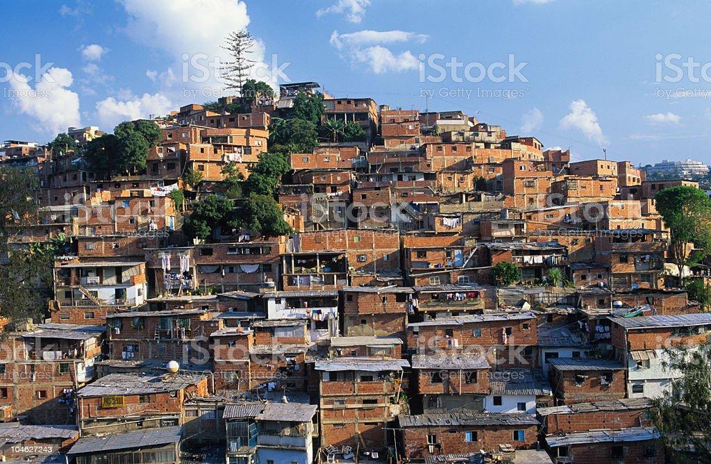 Slum over the mountain royalty-free stock photo