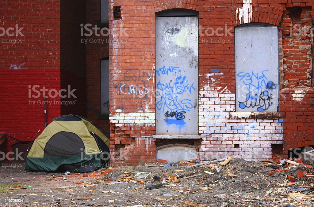 Slum stock photo