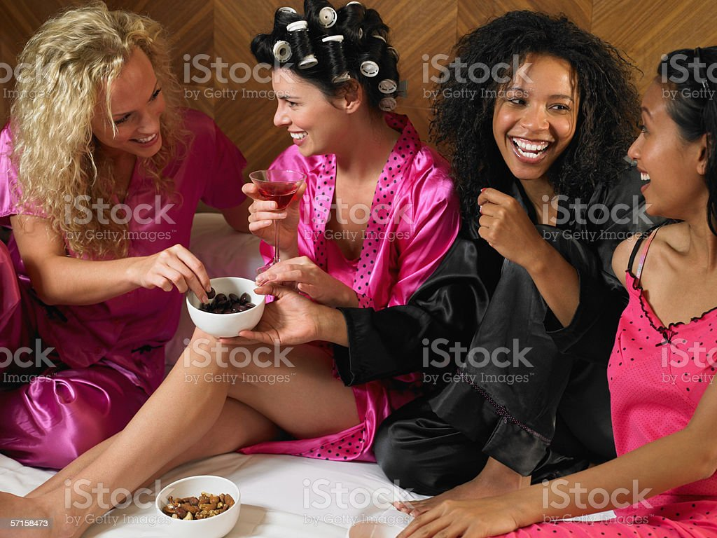 Slumber party stock photo