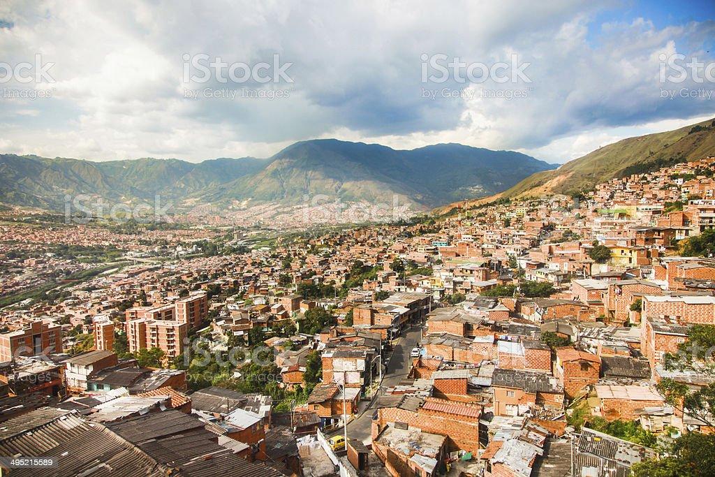 Slums In Medellin, Colombia stock photo
