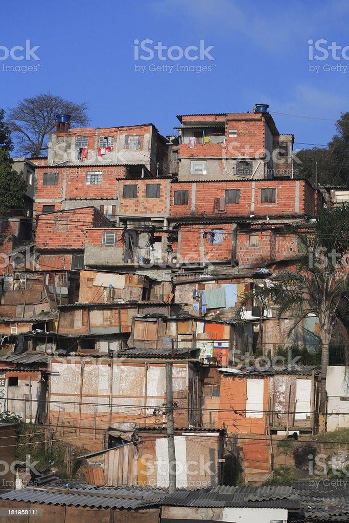 Slums in São Paulo - Brazil royalty-free stock photo