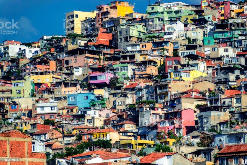 Slums of Izmir, Turkey stock photo