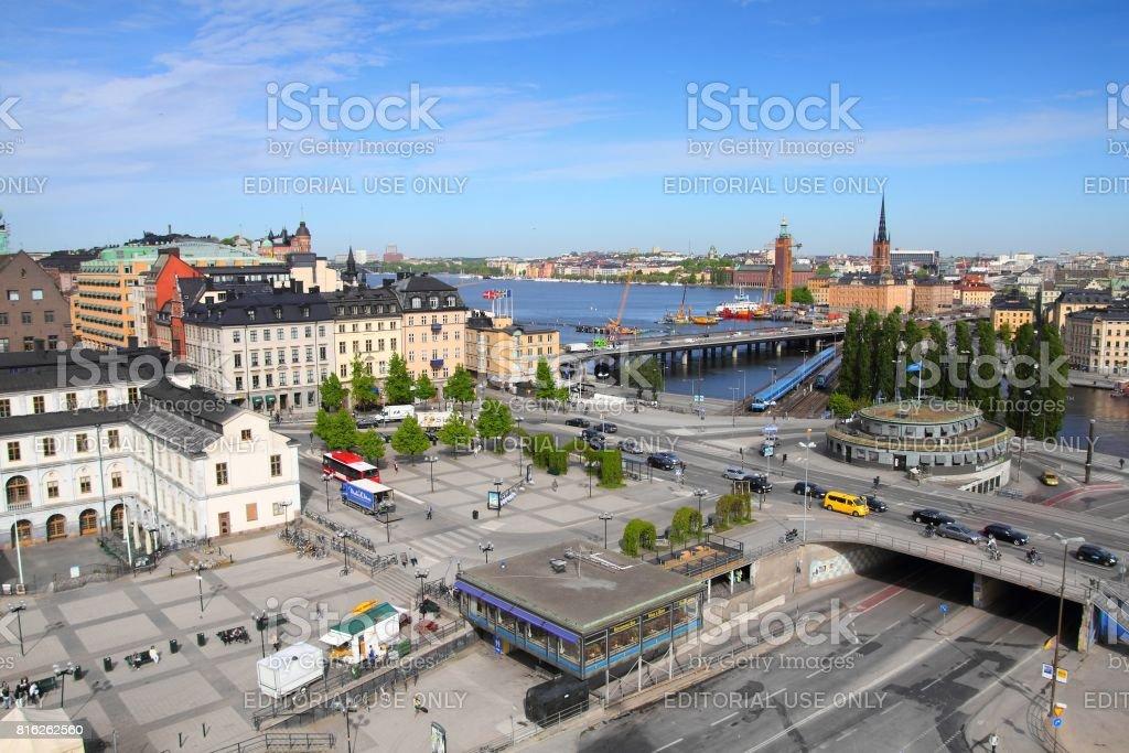 Slussen, Stockholm stock photo