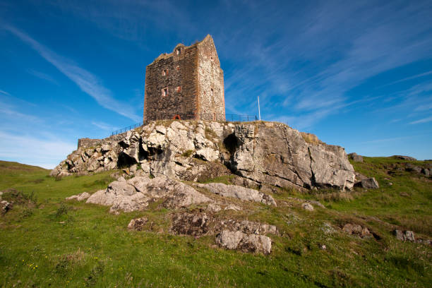 Kelso, Roxburghshire, Scottish Borders, Scotland - July 15, 2014: Smailholm Tower stock photo