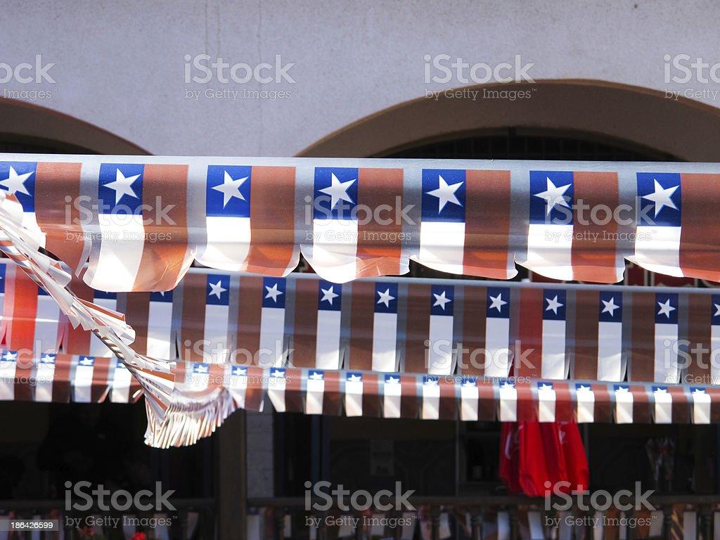 Smaill flags no Chile. - foto de acervo