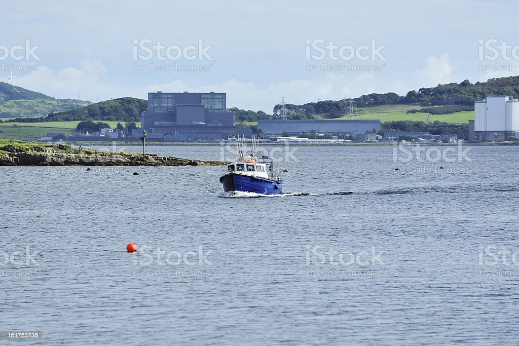 Smal boat near the shore on the Firth of Clyde stock photo