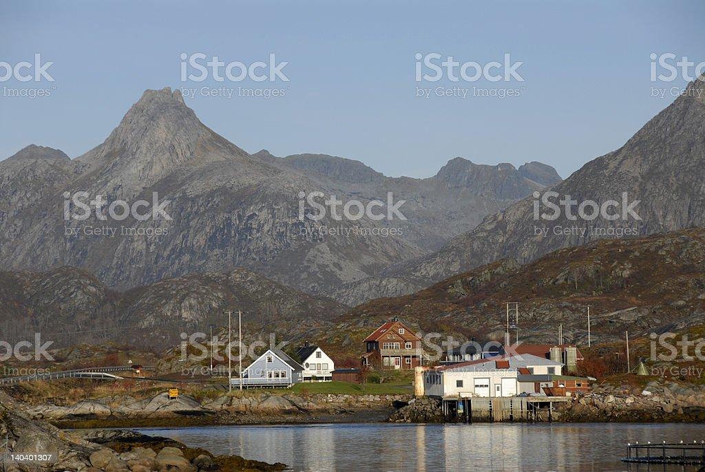 Smal fishing village stock photo