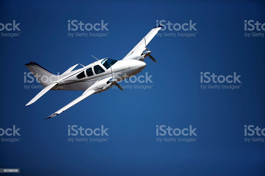 Small aeroplane stock photo