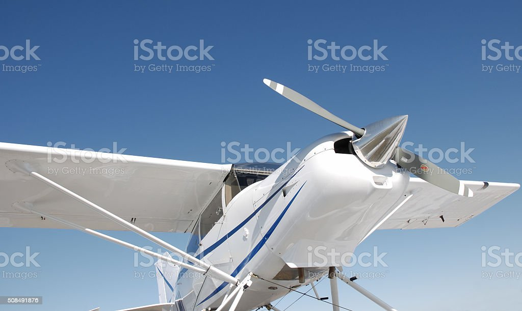 Small airplane. stock photo