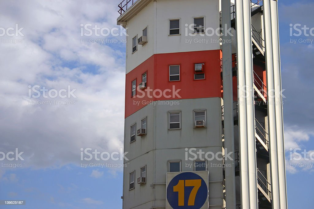 Small Airport Tower Terminal royalty-free stock photo