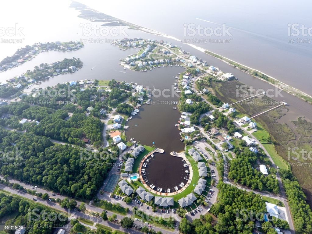 Small Alabama Island on the Gulf Coast royalty-free stock photo