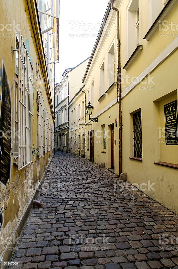 Small alley stock photo