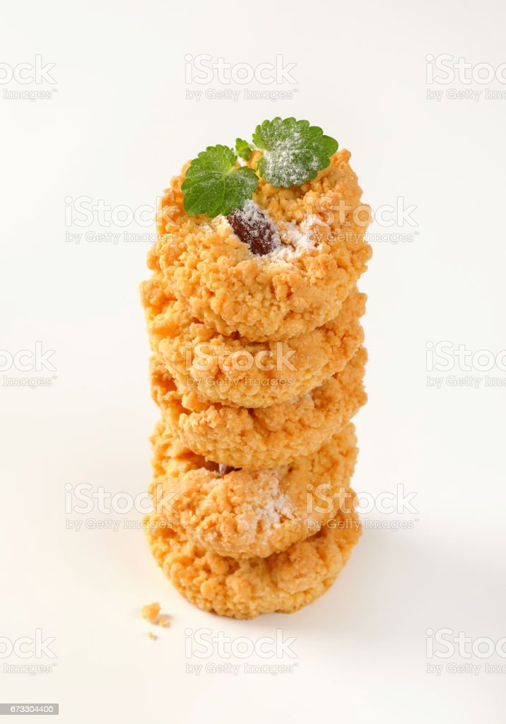 Small almond crumb cookies royalty-free stock photo