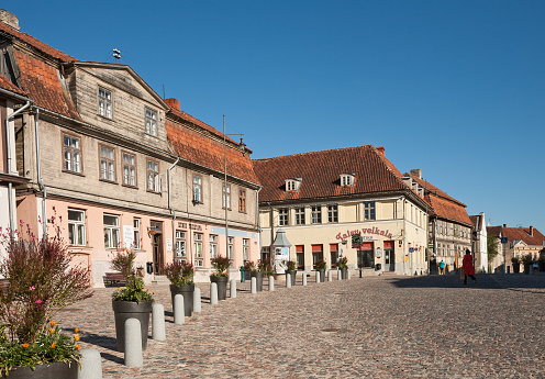 Small ancient town of Kuldiga, Latvia