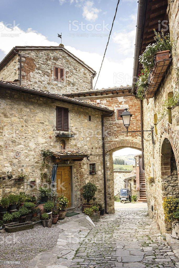 Small Ancient Village in Chianti Region royalty-free stock photo