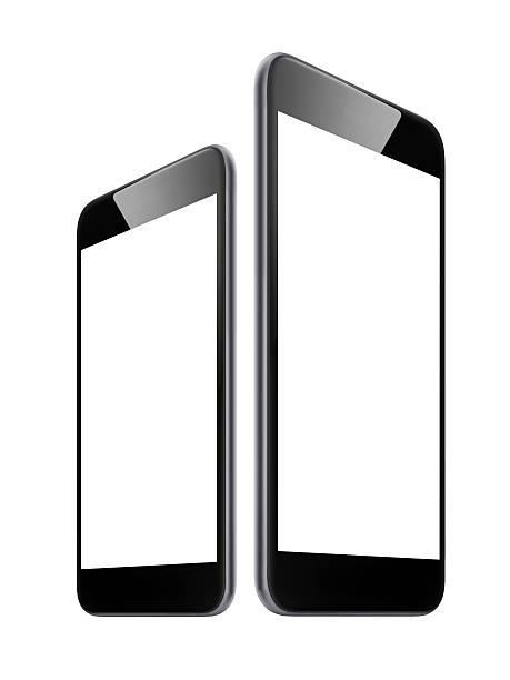 Small and big size smart phone stock photo