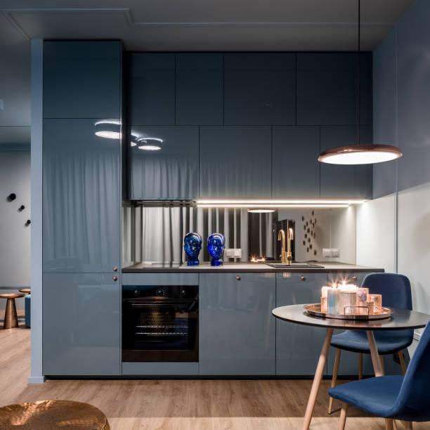 Small and elegant kitchen area stock photo
