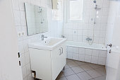 istock small and simple bathroom 1221677466
