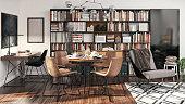 istock Small Apartment Interior Design 1210100592