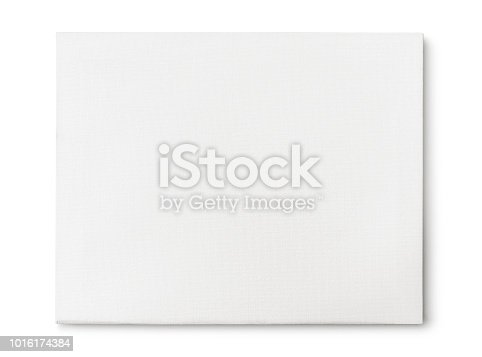 Artist canvas isolated on white (excluding the shadow)