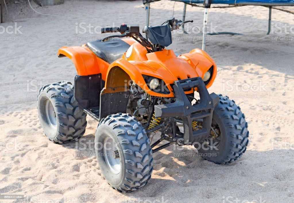 Small ATV rentals stock photo