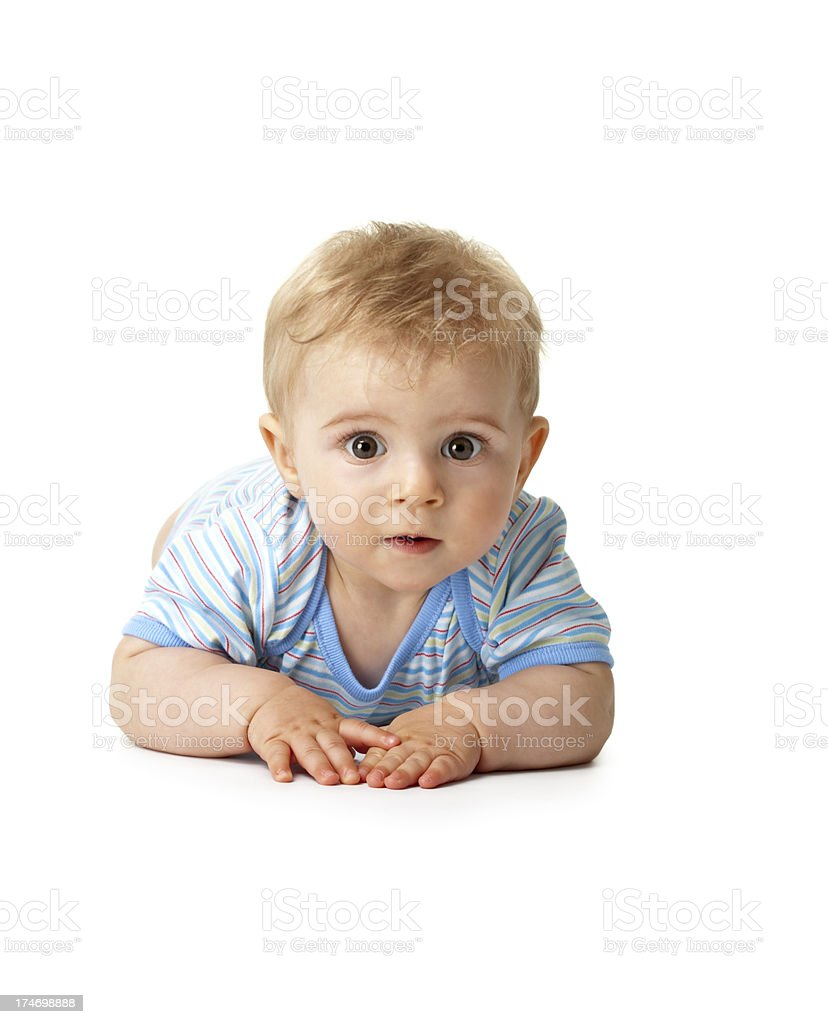 small baby boy sitting stock photo
