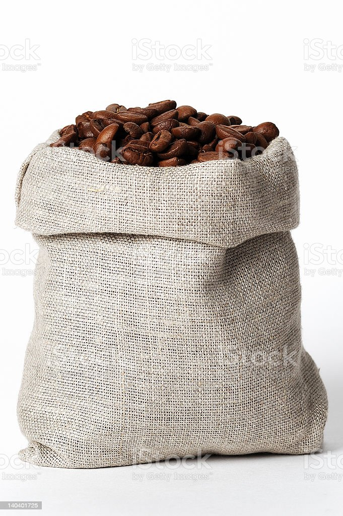 small bag of coffee #2 royalty-free stock photo