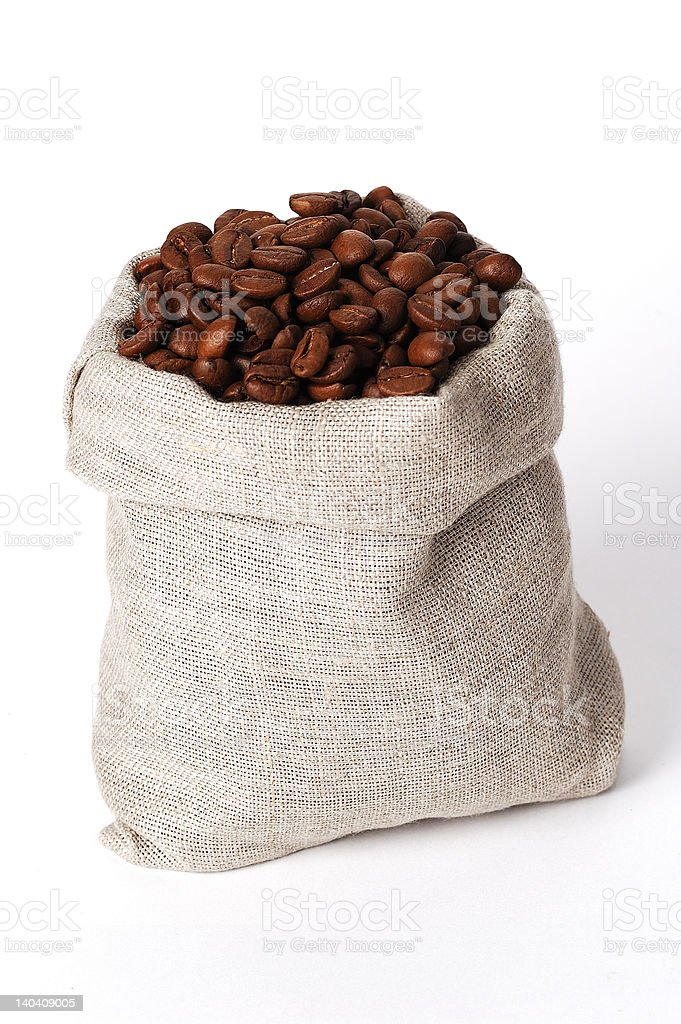 small bag of coffee royalty-free stock photo