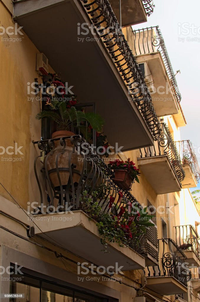 apartment balcony plants Small Balcony Beautifully Decorated With Various Plants And