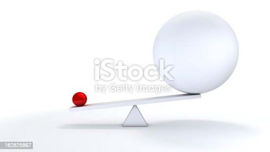 istock Small ball out balance. 182825867