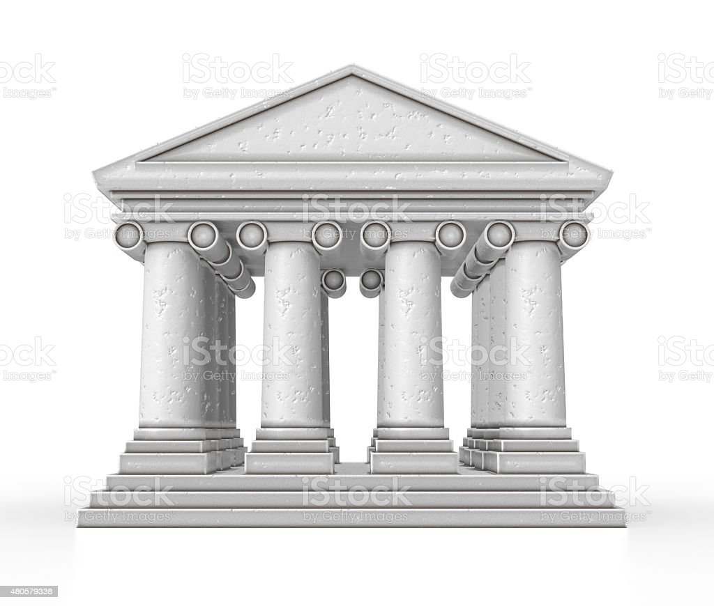 Small Bank Isolated stock photo